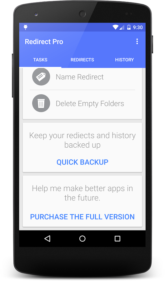 Redirect File Organizer Pro- screenshot