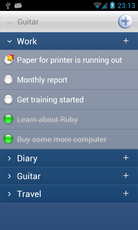 Daily Planner (Schedule task) - screenshot