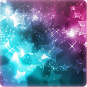 Glitter 3D Stars wallpaper icon