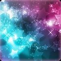 Glitter 3D Stars wallpaper icon