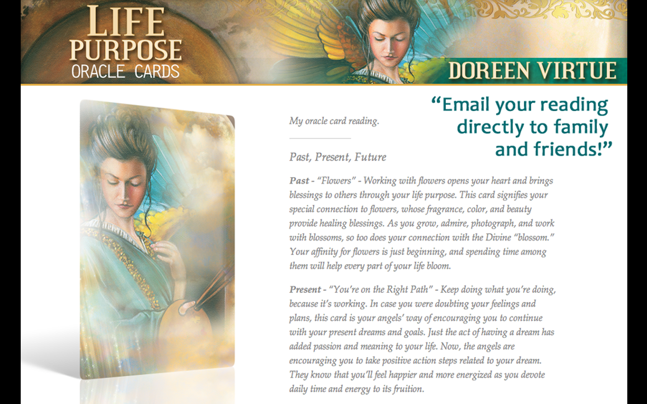 Life Purpose Oracle Cards - screenshot