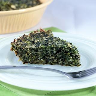 No Crust Greek Spinach & Feta Pie.