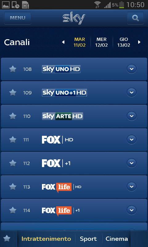 Sky Guida TV- screenshot