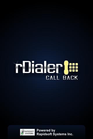 rDialer CallBack Dialer