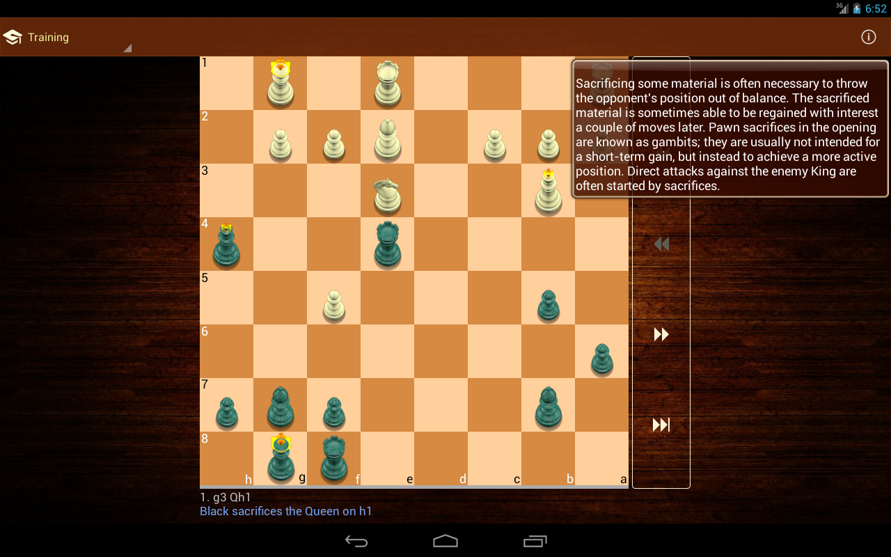 Tactic Trainer - chess puzzle - screenshot