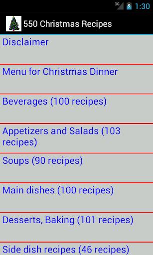 550 Christmas Recipes