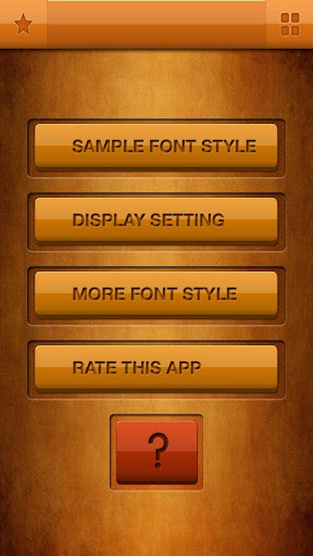 Font Style Clean Android s3