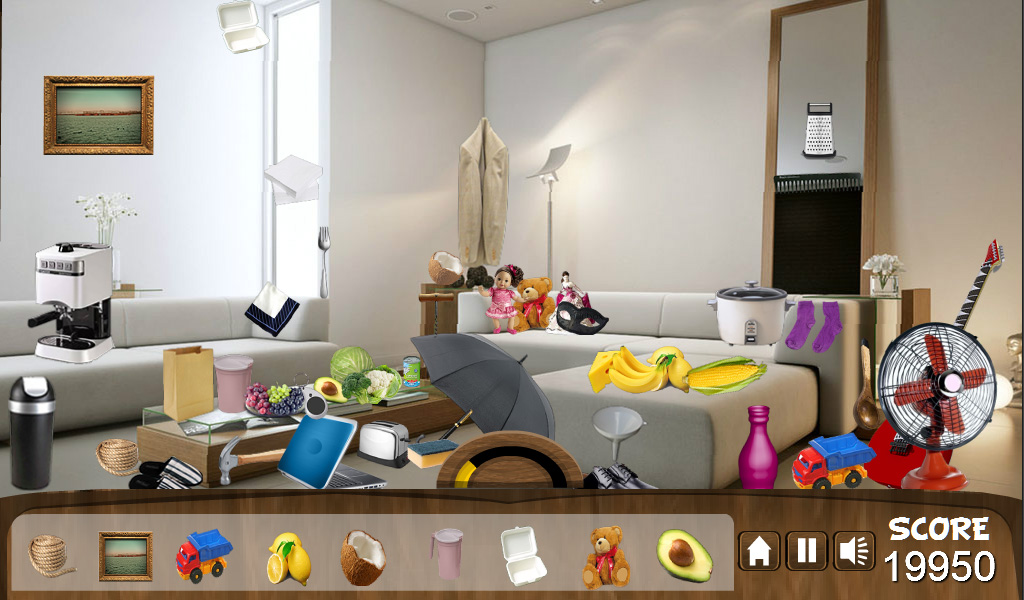 Hidden Object Messy Room Screenshot