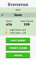 Screenshot of Hues Game - 4x4 card matching!