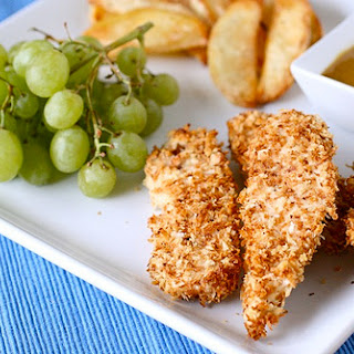 Crispy Baked Chicken Fingers.