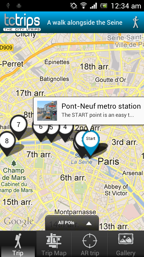 TcTrips Paris - screenshot