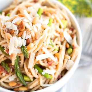Asparagus Pancetta Alfredo-ghetti