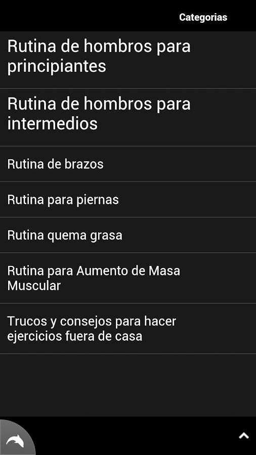 Rutinas de Ejercicios - screenshot
