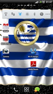 Uruguay flag clocks - screenshot thumbnail