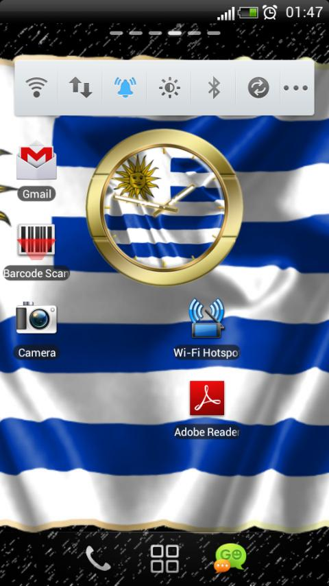 Uruguay flag clocks - screenshot
