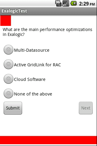 Oracle Exalogic Test - screenshot