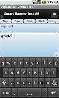 Screenshot of Gujarati Pad