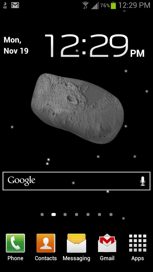 Asteroid Live Wallpaper Free - screenshot