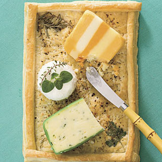 Puff Pastry Cheese Tray.
