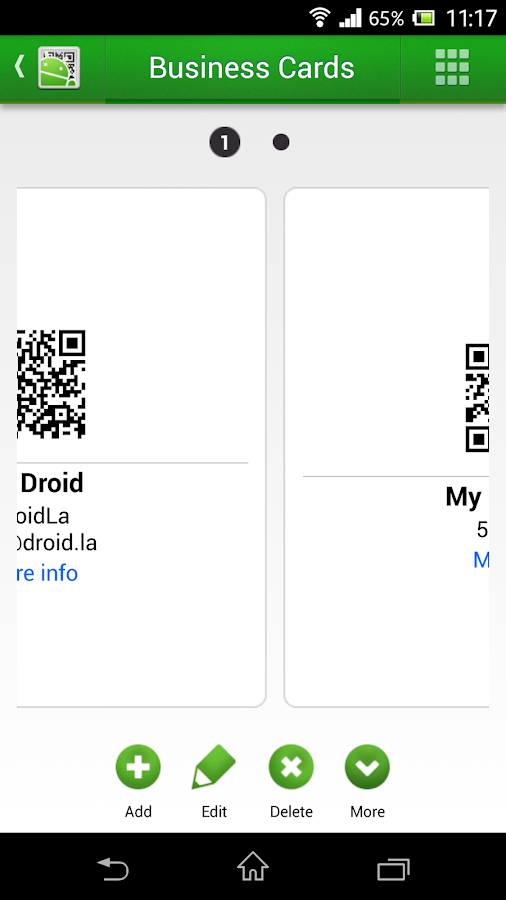 QR Droid Code Scanner: captura de pantalla