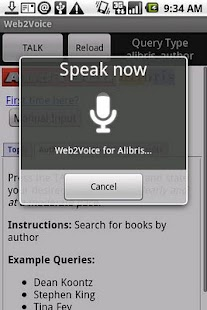 Web2Voice for Alibris- screenshot thumbnail
