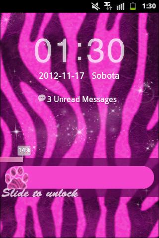 GO Locker Theme Pink Zebra Buy