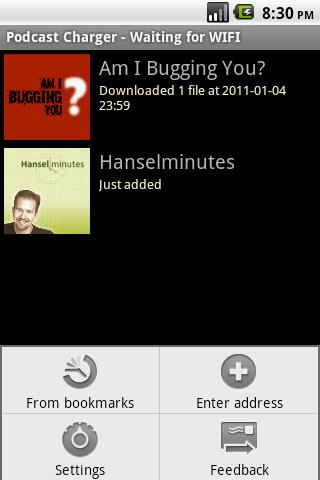 PodcastCharger - screenshot