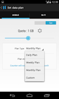Screenshot of DashClock Data Usage Extension