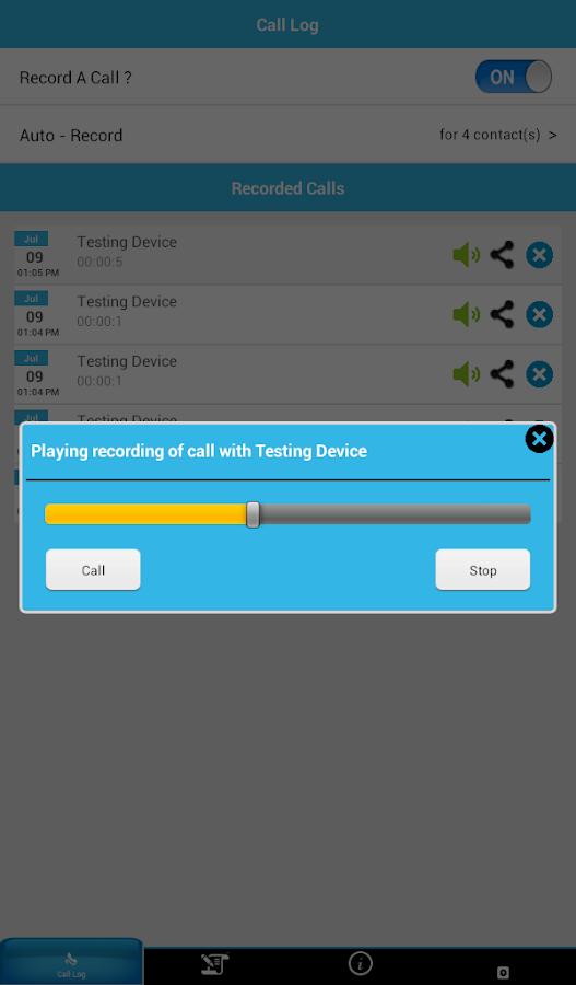 Record A Call - screenshot