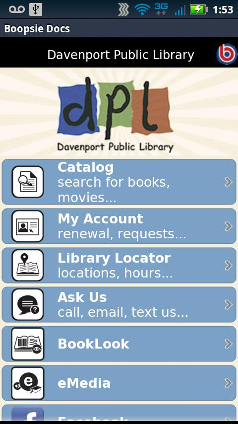 Davenport Public Library - screenshot