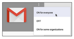 Turn on Gmail service