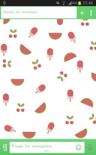 GO短信超甜西瓜|玩個人化App免費|玩APPs