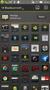 Hi Black(GO Launcher Theme) - screenshot thumbnail