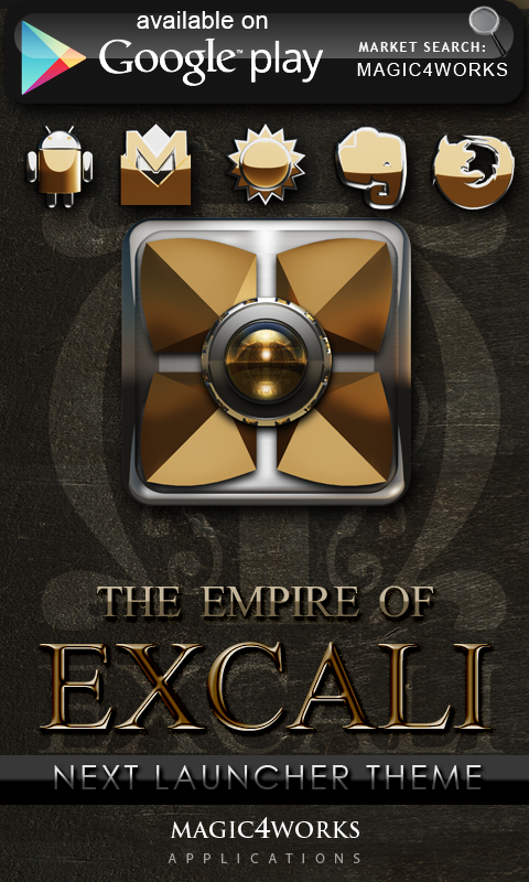 Excali GO Locker theme - screenshot