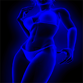 Neon Girl live wallpaper
