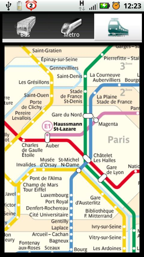 Paris Bus Metro Train Maps - screenshot