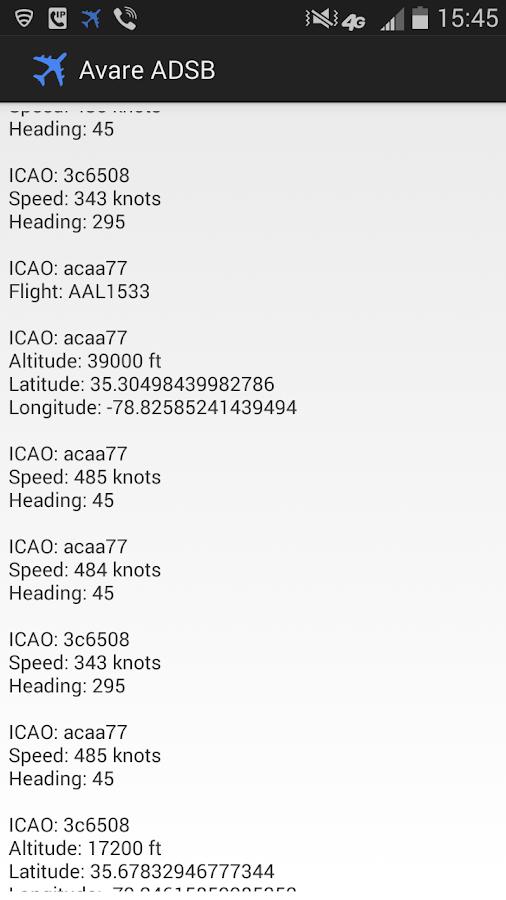ADSB Receiver Pro - screenshot