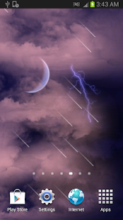 Thunder clouds Free Wallpaper - screenshot thumbnail