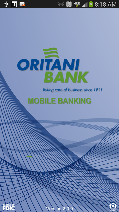 Oritani Mobile Banking- screenshot