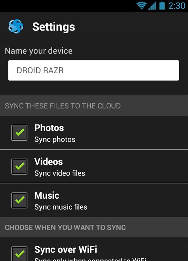 Snap Sync - screenshot