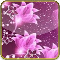 glittering flowers pink lwp icon