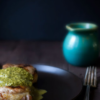 Grilled Pork Chops with Spicy Chimichurri Sauce Recipe