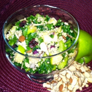 Cranberry-Apple Kale and Quinoa Salad.