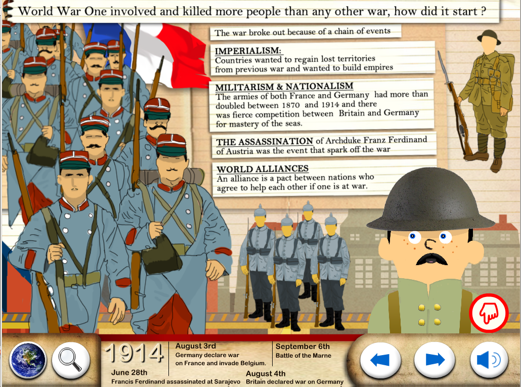 World War One - WW1 For Kids- screenshot
