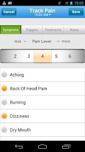 WebMD Pain Coach Screenshot 2