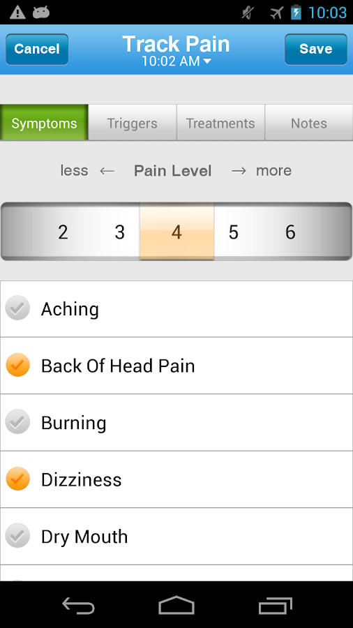 WebMD Pain Coach - screenshot