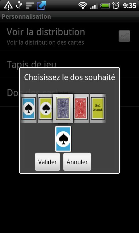 AndroBelote - screenshot