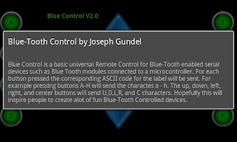 Screenshot of Blue Control
