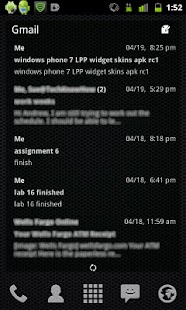 LP+ Windows Phone 7 Blue Skin- screenshot thumbnail