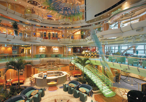The Centrum lobby on Serenade of the Seas is an impressive introduction to your cruise experience.
